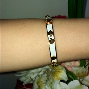 White and Gold Kate Spade Bracelet